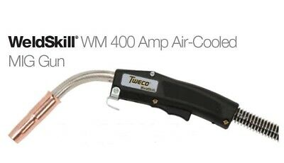 """Tweco Weldskill 400 Amp MIG Gun with Euro-Kwik Style Back-end up to 1/16"""""""