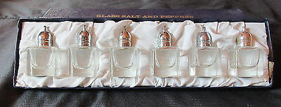 FB. Rogers Silver Co.: Glass Salt & Pepper Shakers: Silverplated Tops: Set Of  6