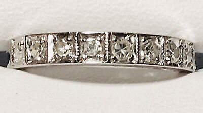 18Ct 11 X💎diamond💎half Eternity White Gold Possibly50Pts Approx.xfr Tested18Ct