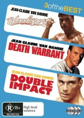Bloodsport + Death Warrant + Double Impact (DVD, 2008, 3-Disc Set) - VGC