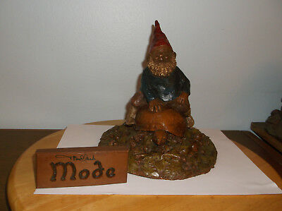 TOM CLARK GNOME - MODE (Gnome Riding Turtle) - WITH PEN SIGNED PLAQUE INCLUDED