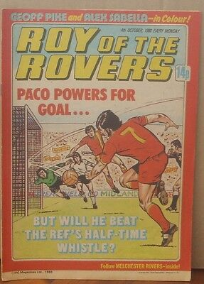 ROY OF THE ROVERS  4th October 1980 The Hard Man MIghty Mouse Tommy's Troubles