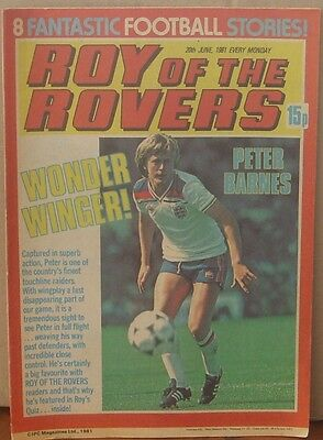 ROY OF THE ROVERS  18th June 1981 The Hard Man MIghty Mouse Tommy's Troubles