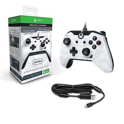 PDP Wired Xbox One S X & Windows Controller White Camouflage Camo NEW & SEALED