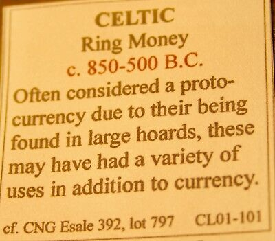 CELTIC. Bronze Ring Proto-Money, 800-500 B.C.,