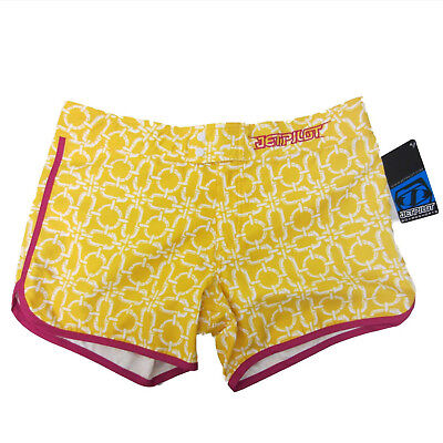JetPilot New Women's Sizzle Shorts Yellow/Pink Ladies Watercraft Size 5
