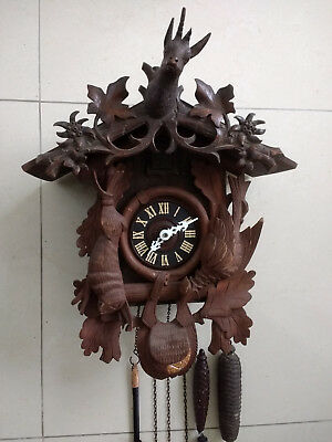 Huge vintage cuckoo clock Black Forest wall clock regula made in Germany
