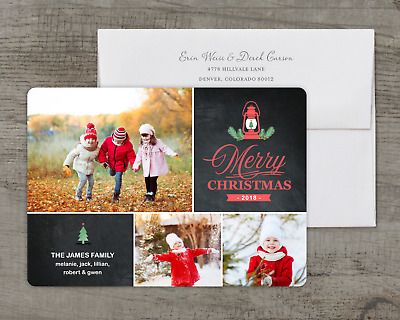 Lantern - Deluxe 5x7 Personalized Holiday Christmas Card