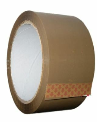 LONG LENGTH TAPE STRONG BROWN 48mm x 66M PACKING PARCEL TAPE X 6