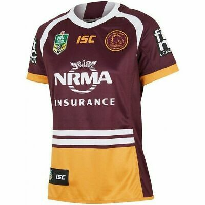 Brisbane Broncos NRL 2018 Home ISC Jersey  Ladies Sizes 8-18! In Stock!