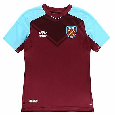 Umbro West Ham Home Jersey 2017 2018 Juniors Claret/Blue Football Soccer Shirt