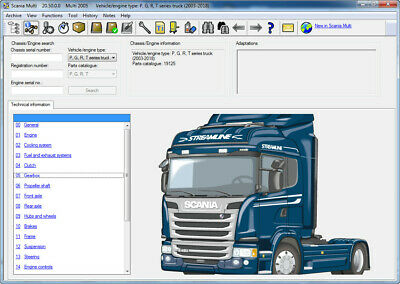 Scania Multi 03/2018 multilanguage spare parts and service manuals software