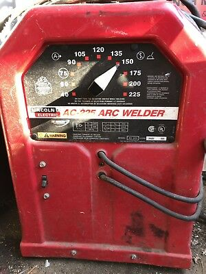Lincoln Electric AC-225 Arc Welder W/Hand Truck And Extension Cord