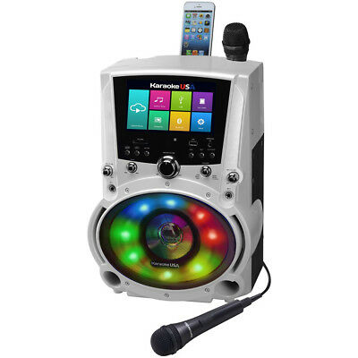 "Karaoke USA 50W All-In-One Wi-Fi Karaoke Machine w/ 7"" TFT HD Color Touchscreen"