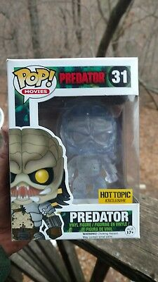 Funko Pop! Movies Predator Clear Green Bloody Hot Topic Exclusive #31
