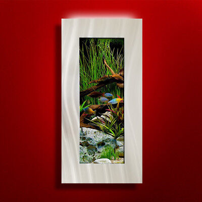 New! Original Aussie Aquarium -Verticali Brushed Aluminum Wall Mounted Fish Tank
