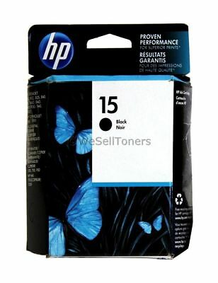HP 15 Black Ink Cartridge C6615DN Genuine New
