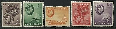 Seychelles KGVI 1938 2 cents to 12 cents mint o.g.