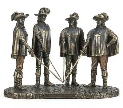 "7"" Three Musketeers Statue Sculpture d'artagnan Athos Porthos Aramis French"