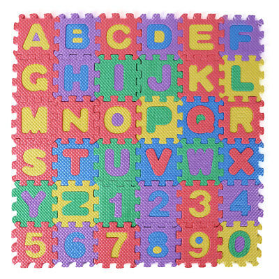 36Pc Baby Children Kids Play Mats Alphabet Number Soft Foam Floor Pad Puzzle Toy