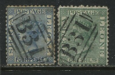Sierra Leone QV 1872 4d and 1/ used