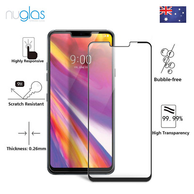 3D NUGLAS LG G7 THINQ G7+ FULL COVER CURVED Tempered Glass Screen Protector