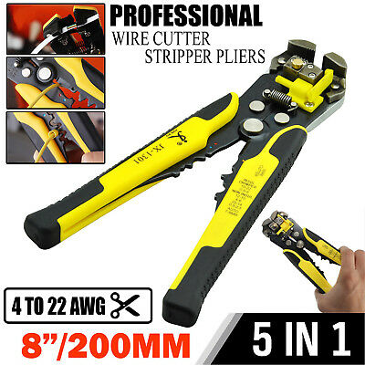 Electric Wire Cutter Crimper Cable Strippers Pliers Adjusting Hand Terminal Tool
