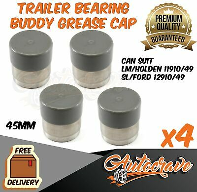 4x Trailer Hub Disc Bearing Buddies buddy Protectors Dust Grease Cover Caps Boat