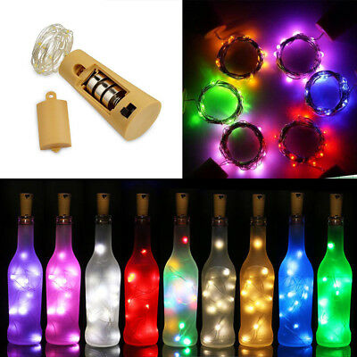 3x 20LED Fairy String Lights Wine Bottle Copper Cork Wire Lamp Party Xmas Decor