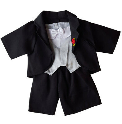 "Tuxedo with Vest Outfit Fits Most 14"" - 18"" Build-a-bear, Vermont Teddy Bears, a"