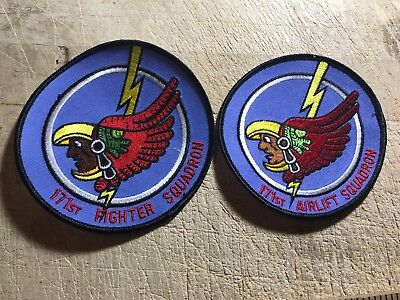1980s/1990s? 2-US AIR FORCE PATCHES-171st Fighter/Airlift Squadron ORIGINALS!