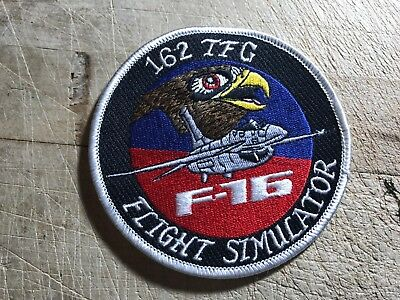 1980s/1990s? 2-US AIR FORCE PATCHES-162nd TFG F-16 Flight Simulator-ORIGINAL!