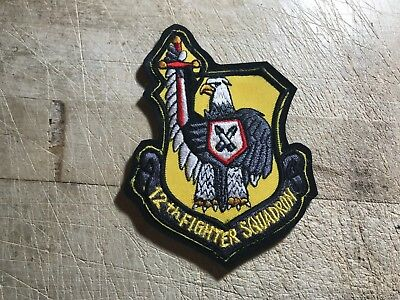 1970s/1980s/1990s? US AIR FORCE PATCH-12th Fighter Squadron-ORIGINAL USAF
