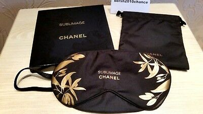 Nib Rare Chanel Sleeping Eye Mask (Travel Mask) With Small Bag