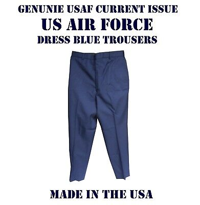 Trousers Military Us Air Force Dress Pants Men's Poly Wool Usaf Blue Many Sizes