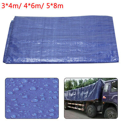 3 Sizes Of Heavy Duty Tarpaulin Waterproof Cover Tarp Ground Camping Sheet