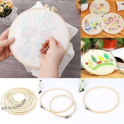 Wooden Cross Stitch Machine Embroidery Hoop Ring Bamboo Sewing 13-30cm 1Pc