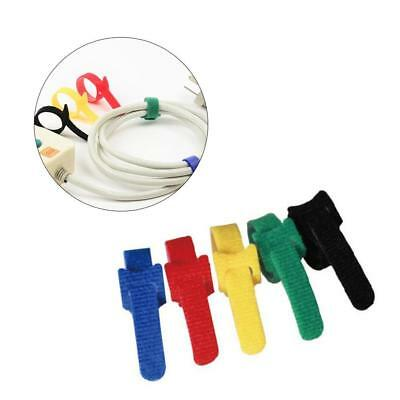 100x Electrical Nylon Strap Reusable Cable Zip Ties PC TV Tidy Wrap Hook &Loop