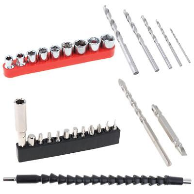 Power Tool Electric Snake Drill Sleeve Screwdriver Head and HSSTwist Drill Sets