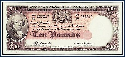 Australia 10 Pound note 1954 Coombs/Wilson WA/26-233217 R-62 Commonwealth Bank