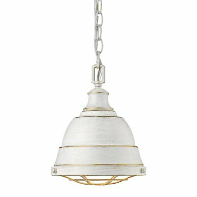 Beaumont Lane Small Steel Pendant in French White
