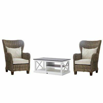 3 Piece Living Room Set with Accent Chair and Coffee Table