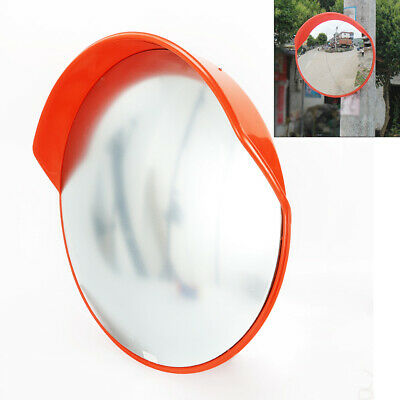 Universal Outdoor PC Traffic Convex Mirror 18INCHES Orange+Mountingbracket