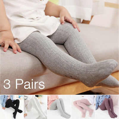 Epeius Baby Girls' Seamless Cable Knit Tights (Pack of 3) Toddler(12-24 Months)