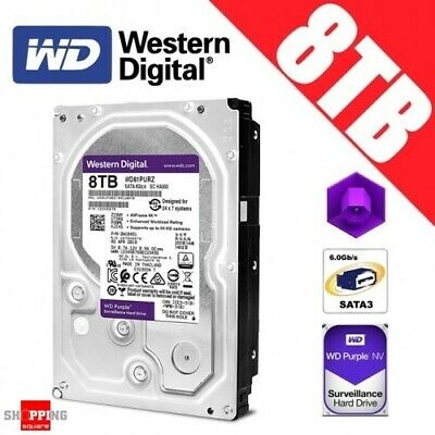 Western Digital Purple 8TB 3.5-inch SATA 6GB/s Surveillance Hard Drive Disk
