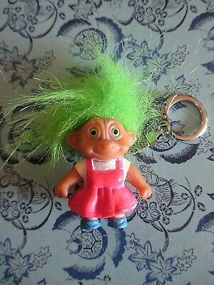Girl Troll Soma Figurine Keyring / Vintage / Collector's Item