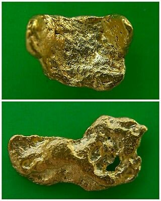 Two Gold Nuggets 0.66 gms. High Purity / Australian / Natural / Gold Nugget