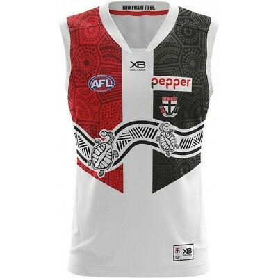 AFL X BLADES ST KILDA SAINTS 2018 INDIGENOUS GUERNSEY MENS Official Football