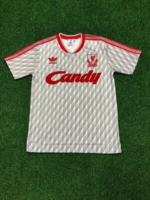 the best attitude 19cd9 4f28f LIVERPOOL GREY CANDY Away Retro Football Jersey 1989/91 ...