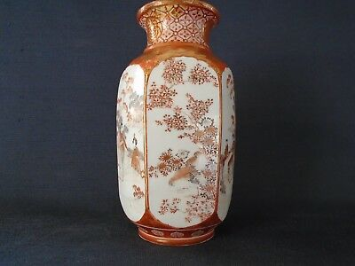 A nice antique Satsuma Japanese pottery vase, made in the Meiji period, signed.